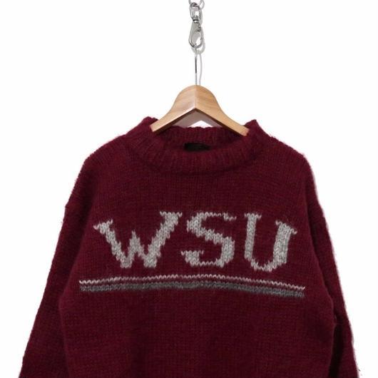 "70's カレッジセーター""WSU"" ICELAND製"