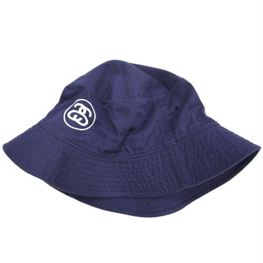 STUSSY Bucket Hat SSリンクロゴ NAVY L/XLサイズ