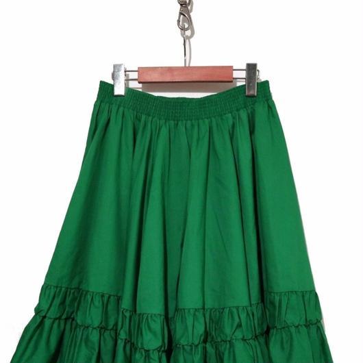 80's 膝下丈 裾ティアード スカート USA製 Mサイズ