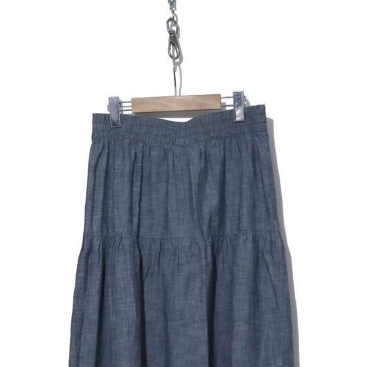 90's OLD NAVY マキシ丈シャンブレースカート