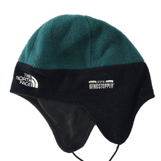 90's THE NORTH FACE 耳当て WIND STOPPER フリースキャップ