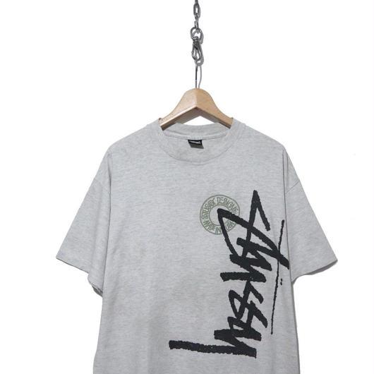 "90's OLD STUSSY プリントTシャツ ""Buena Stock Logo"" 黒タグ USA製"