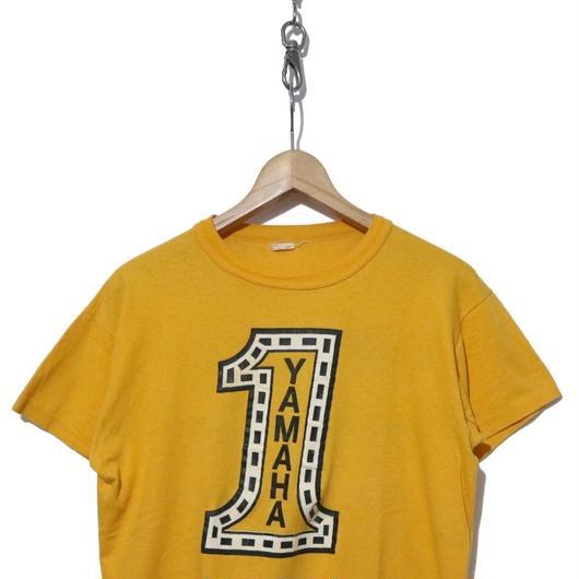 """70's YAMAHA Tシャツ """"No,1"""" ストロボ バックプリント入り USA製"""