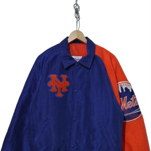 "90's STARTER ナイロンスタジャン 袖ワッペン ""New York Mets"" USA製"