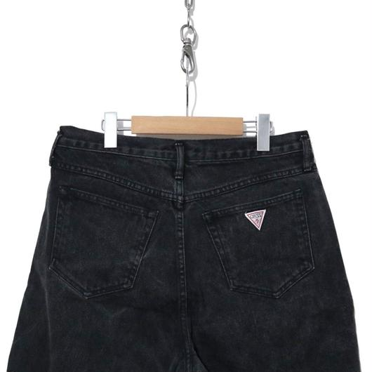 90's GUESS BLACK Denim Buggy Shorts USA製 (実寸W31)