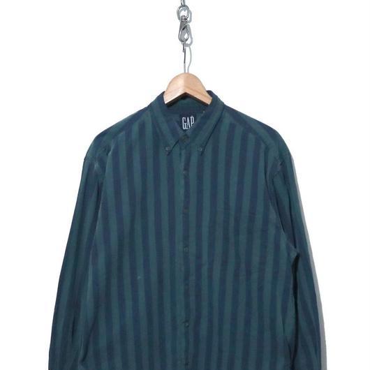 90's OLD GAP コットン ストライプ BDシャツ Mサイズ
