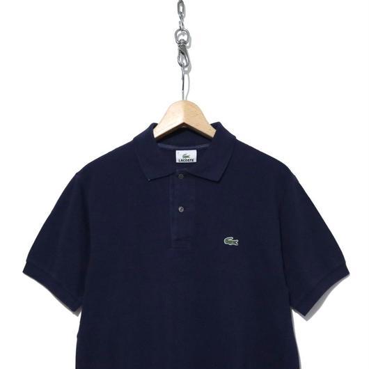 90~00's LACOSTE 鹿の子 半袖ポロシャツ NAVY ルーマニア製