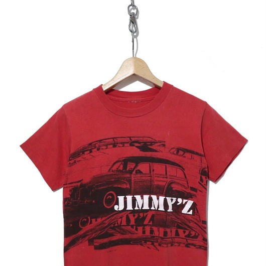 90's JIMMY'Z コピーライト 両面プリント Tシャツ RED