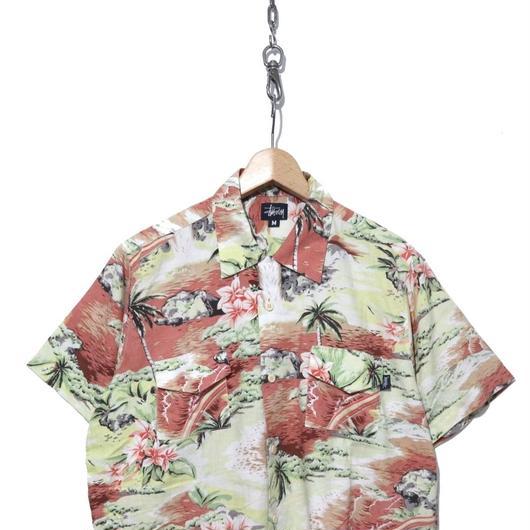 90's OLD STUSSY アロハシャツ コットン100% USA製