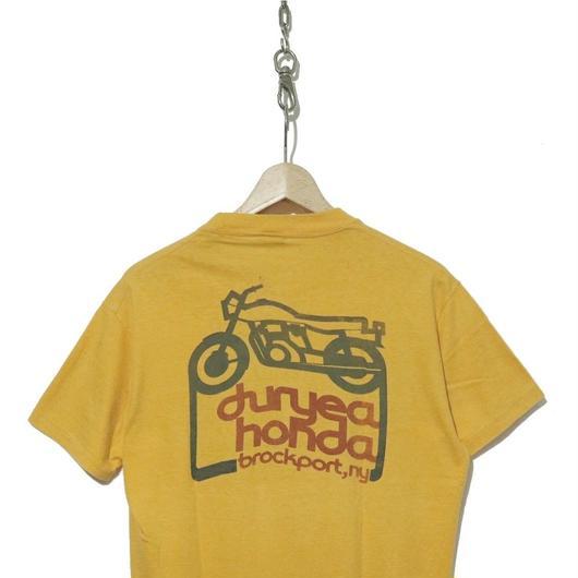 """70's HONDA Tシャツ """"GOLD WING"""" バックプリント入り USA製"""
