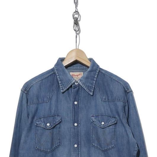 70's Wrangler Denim Western Shirts 16 USA製