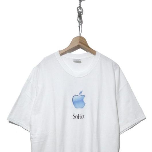 """90's Hanesボディ """"SOHO"""" apple store プリントTシャツ XL USA製"""