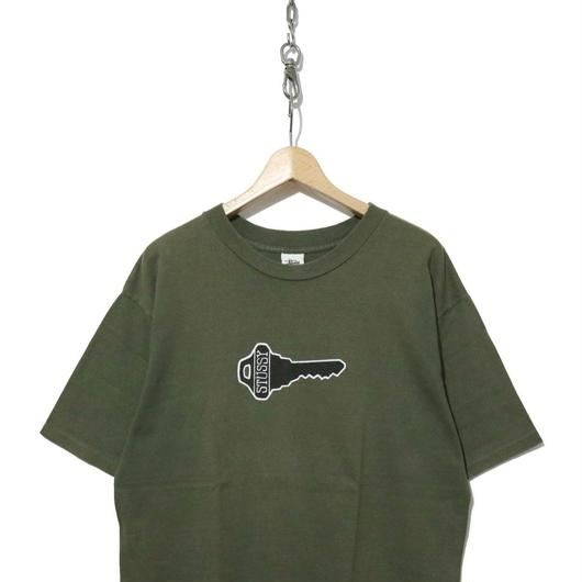 "90's OLD STUSSY 両面プリント Tシャツ ""knowledge is key"" 白タグ USA製"
