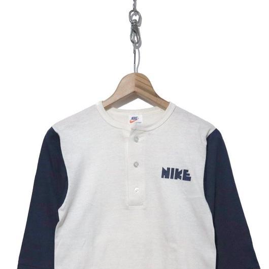 70's ゴツNIKE フットボール 七分袖Tシャツ ミントコンディション USA製