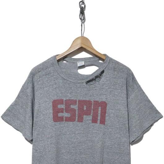 "80's CHAMPION トリコタグ 染み込みプリント ""ESPN"" 88/12 XL ジャンク"
