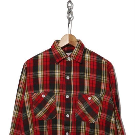 60's BIG MAC ヘビーネルシャツ レッド×ブラック