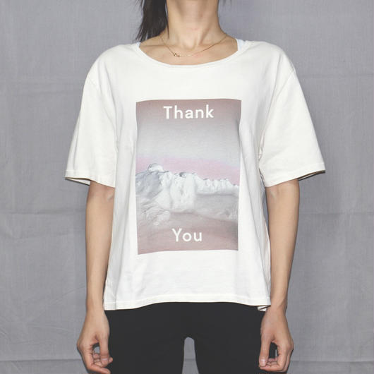 ACNE STUDIOS / Thank you print over sized T-shirt
