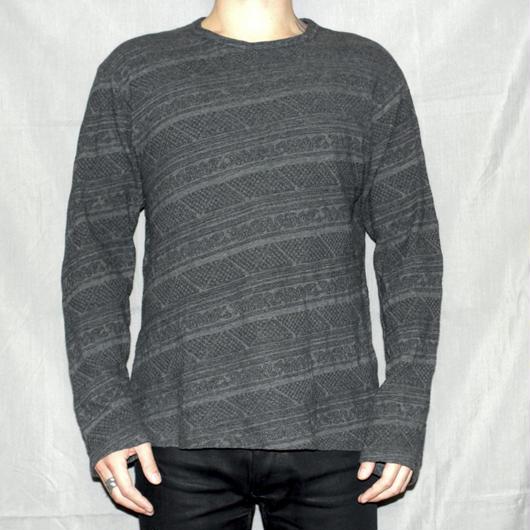 Yohji Yamamoto pour homme / Jacquard Bias cotton knit