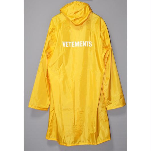 "VETEMENTS / SS16 ""VETEMENTS"" Limited edition Rain coat"