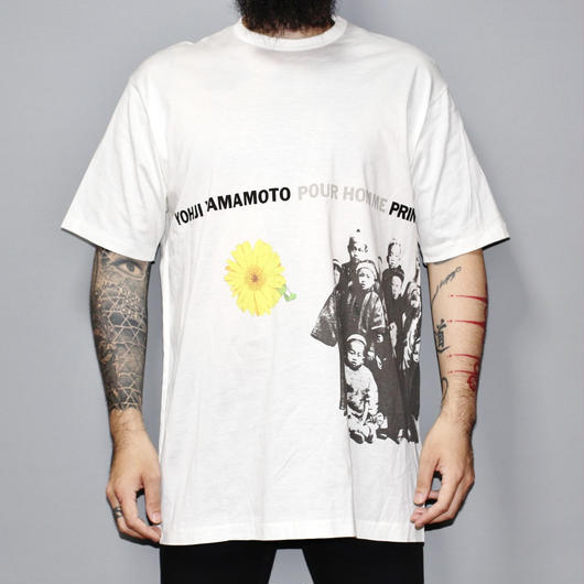 1996 Collection / Yohji yamamoto pour homme / 96 Collection image print T-shirt