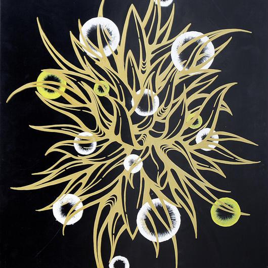 「月下美人ノ華 / Dutchmans pipe cactus」 2009 Ayumi Miyakawa 宮川 あゆみ