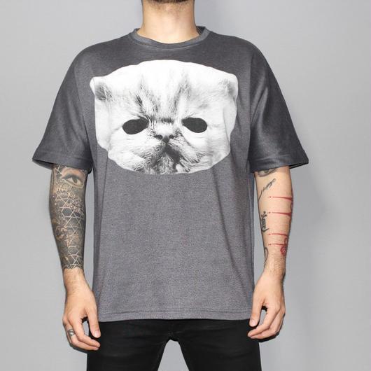 SHAUN SAMSON / Big cat over sized T-shirt