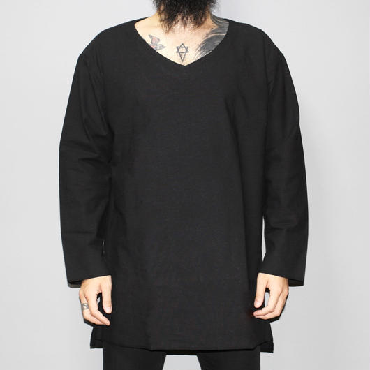 the bang by the Sakaki 襦袢 /  V neck L/S  / BLACK