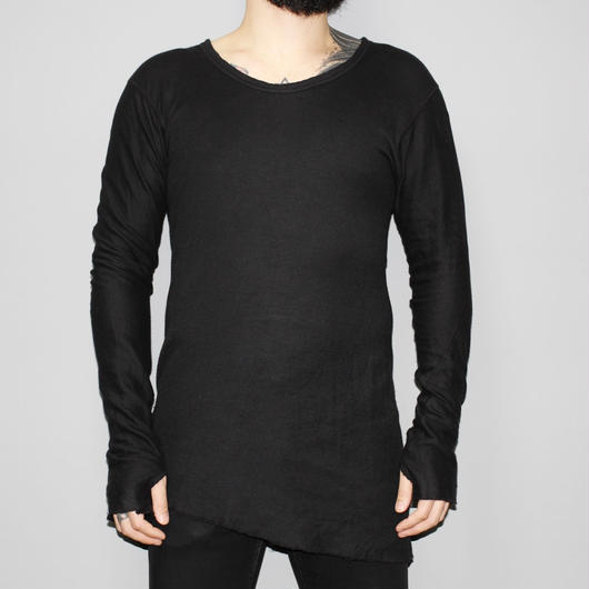 BORIS BIDJAN SABERI / Double layered LS T-shirt with Thumb holes