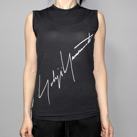 Yohji yamamoto femme / Big logo sleeveless T-shirt