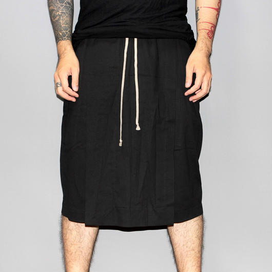 Rick owens / SAVAGE POD SHORTS (COTTON)