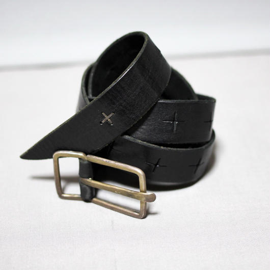 "M.A+ by Maurizio amadei / Medium "" G "" Buckle cross cuts broad belt"