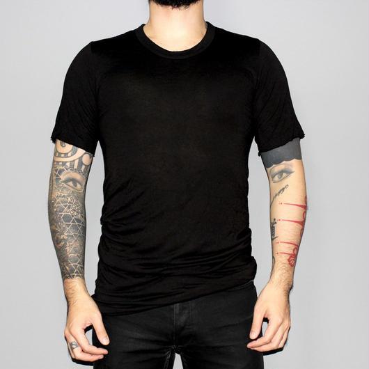 Rick owens / Rayon silk BASIC T-shirt