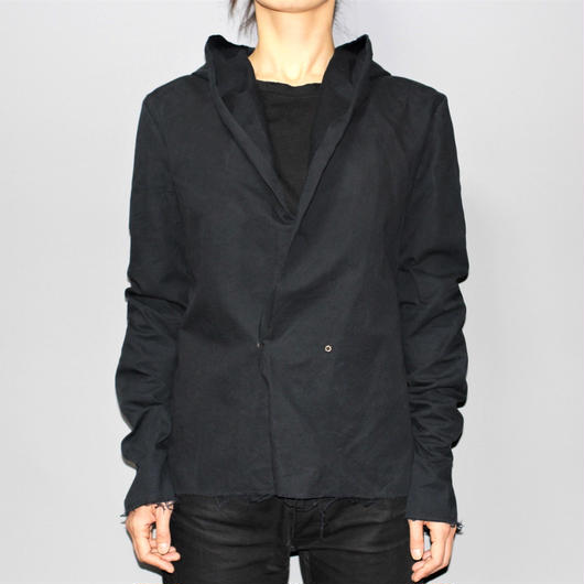 M.A+ by Maurizio amadei / Hooded one button shirt jacket