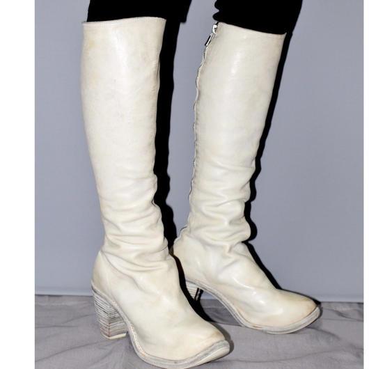 GUIDI / Back zip chunky boots