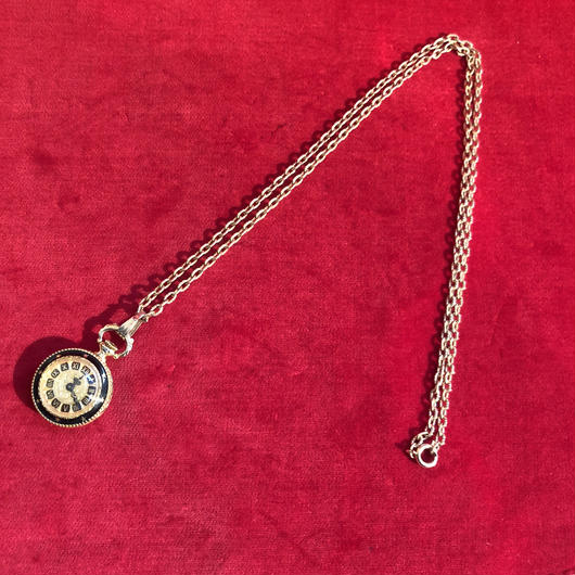 vintage watch necklace #N20186
