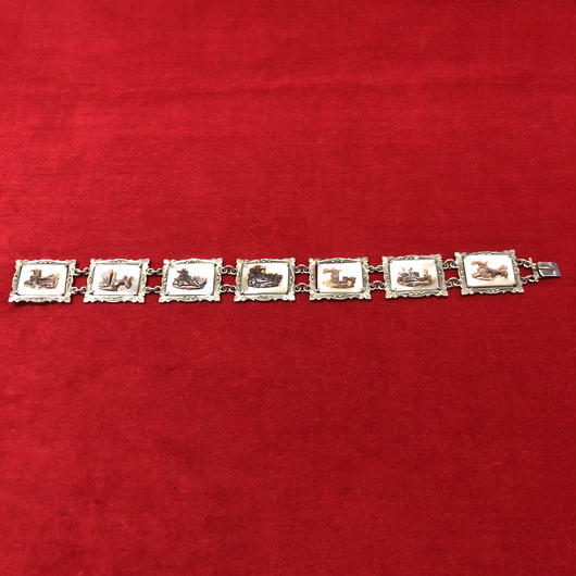 vintage silver bracelet #B20238