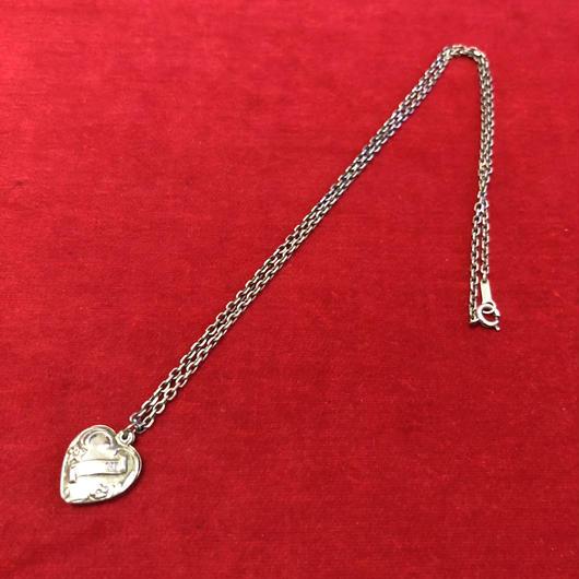 vintage silver necklace #N045