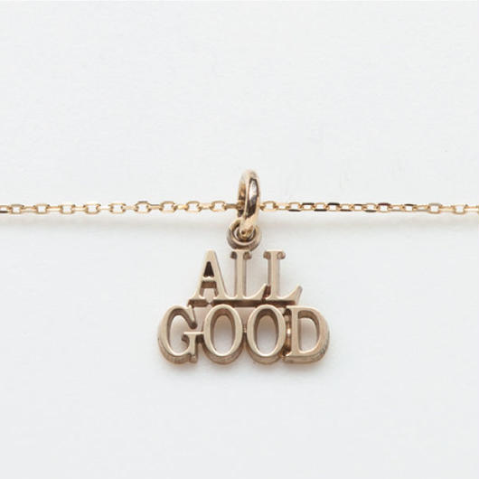 text necklace  -ALL GOOD-
