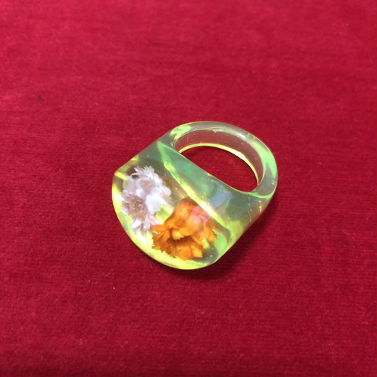 vintage dried flower ring #NR005
