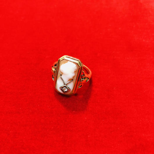 vintage cameo ring #LR18
