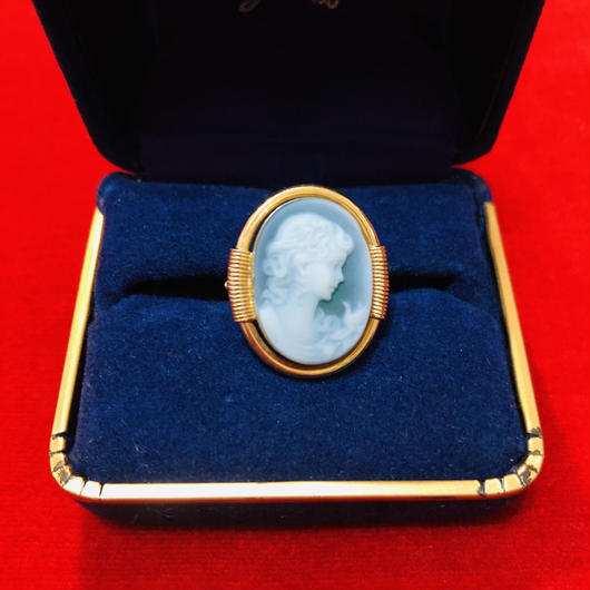 vintage cameo ring #LR8