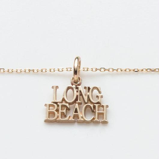 text necklace  -LONG BEACH-