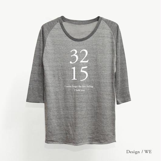 レディース トライブレンド7分袖ラグランTシャツ/ ヘザーグレー × ヘザーブラック(袖)