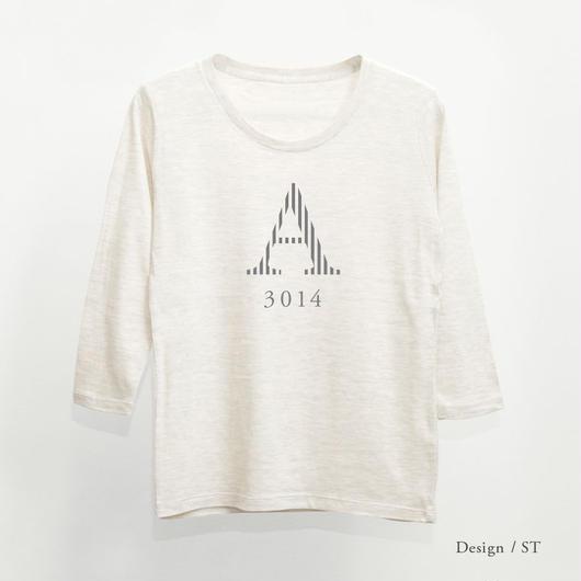 レディース トライブレンド8分袖Tシャツ / オートミール