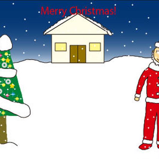 ポストカード クリスマスカード(はがきサイズ・300ppi・jpegデータ)