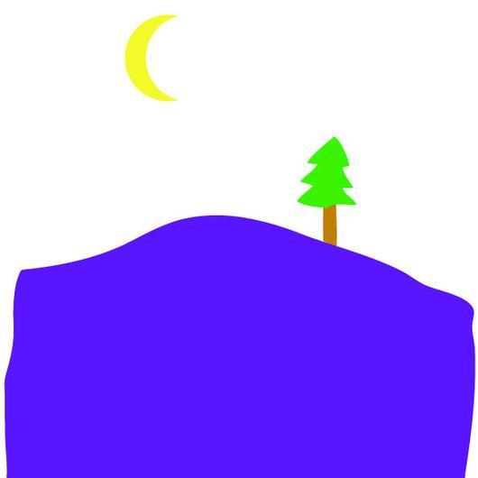 デザイン 山の夕暮れ(A4・300ppi・jpegデータ)