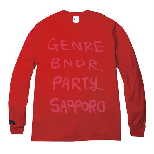 予約販売! USサイズ GENRE BNDR PARTY SAPPORO Long-Sleeve T-shirt  / 6.0oz RED - RED27059PK