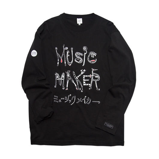 MUSIC MAKER Long-Sleeve T-shirt / 6.2oz BLK - BLK27031WH
