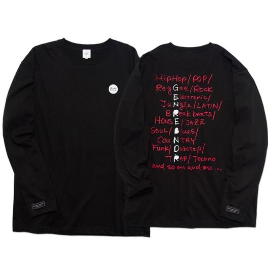 PLAY LIST Long-Sleeve T-shirt / 6.2oz BLK - BLK27030RD
