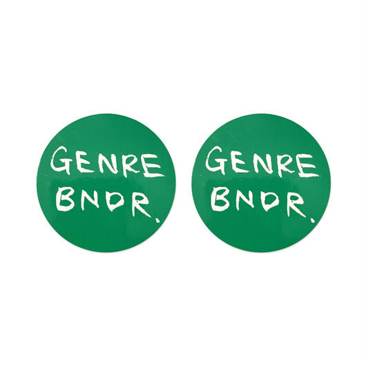 GREEN GENRE BNDR STICKERS (2点セット)